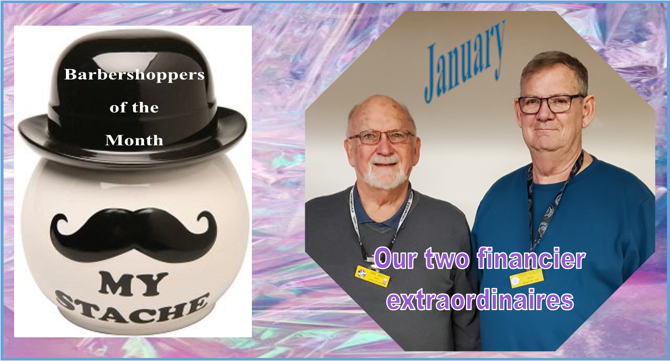 Barbershoppers of the Month - Eric Best & Corry Demers